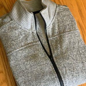 Grey Zip-up Active Sweatshirt